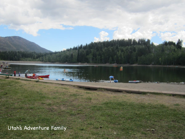 The side of the lake accessed through the campground.