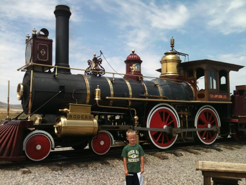 Train at Golden Spike National historic site