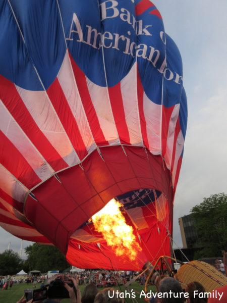 Hot Air Balloon filling up