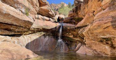 View of pine creek waterfall