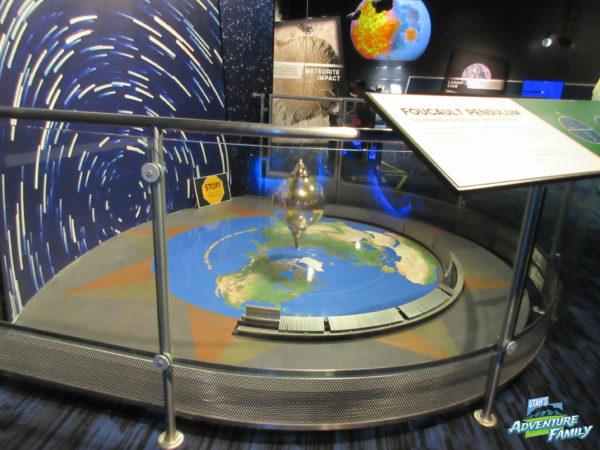 The pendulum is still at the planetarium. We were glad!