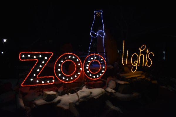 Zoo lights sign at Hogle Zoo