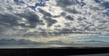 View across Utah lake