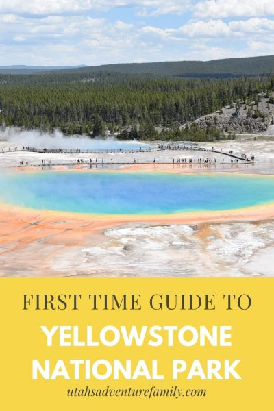First Time Guide to Yellowstone Pinterest image
