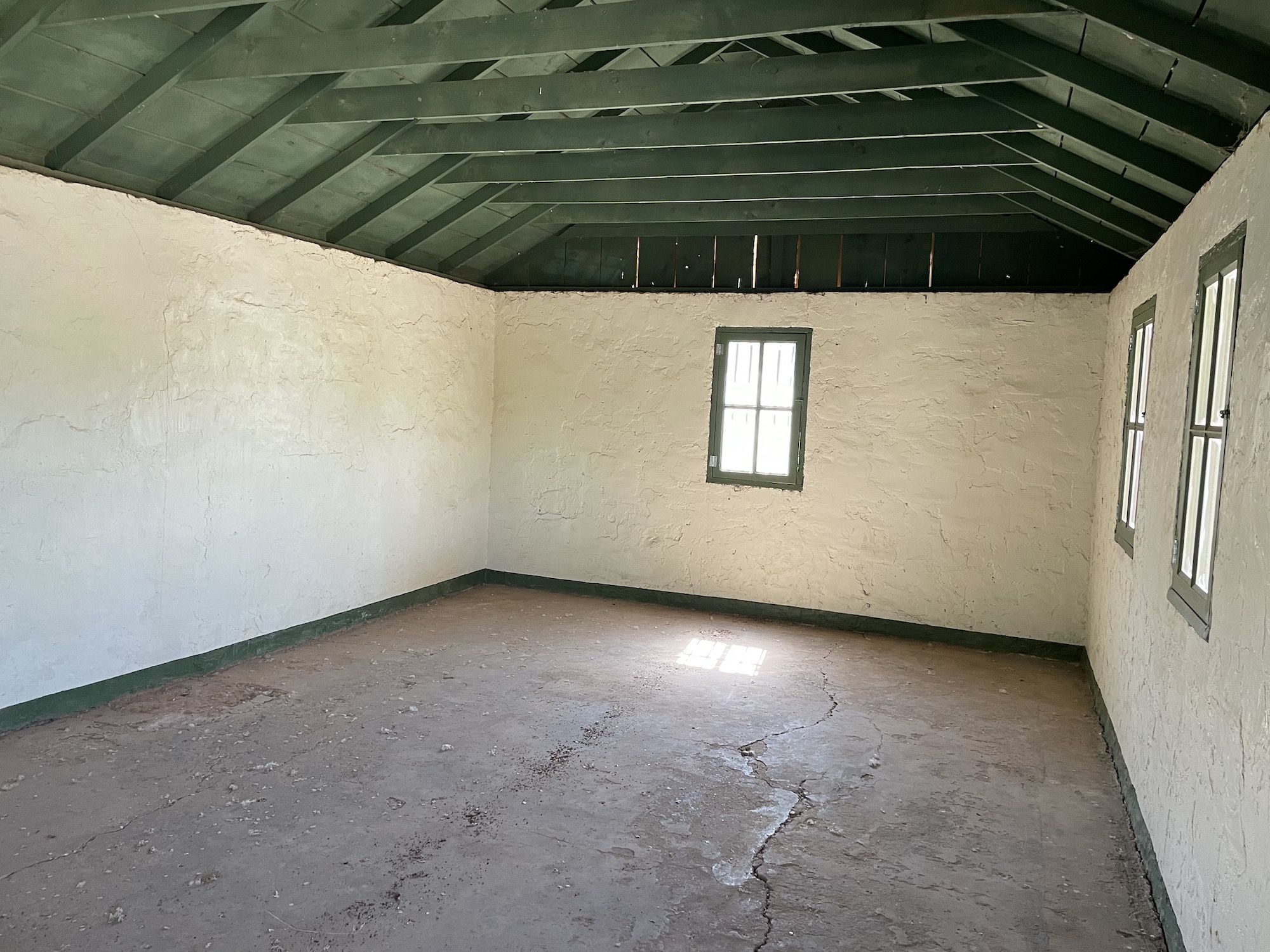 Inside one of the Buildings at the Civilian Conservation Corp Camp in Leeds