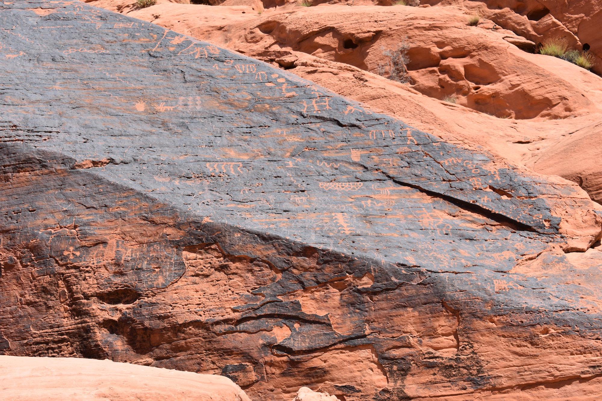 Petroglyphs on rock