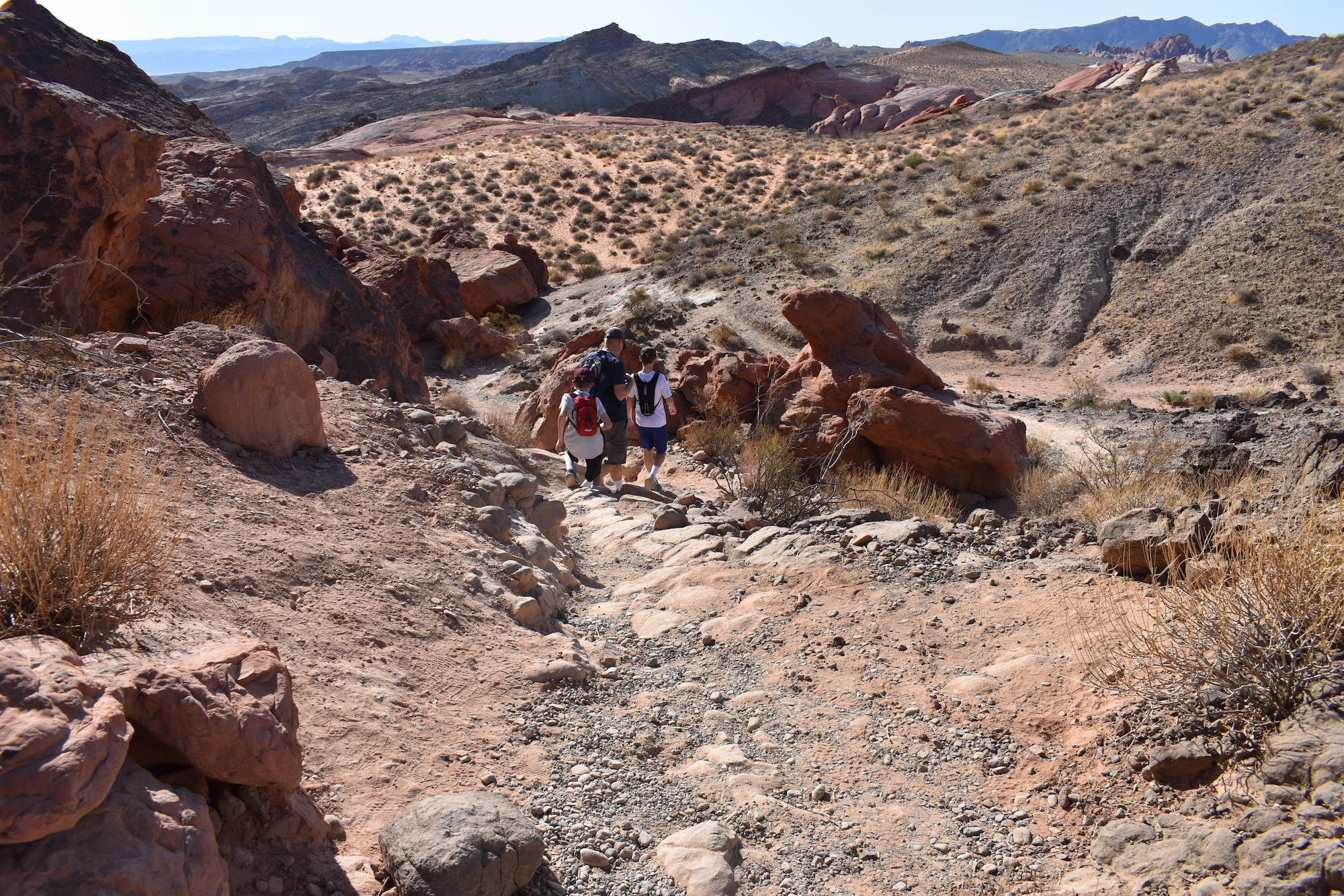 Hiking trail to Fire Wave in Valley of Fire State Park